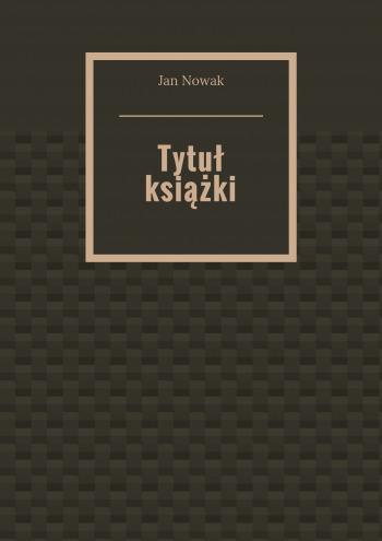 Tytuł książki