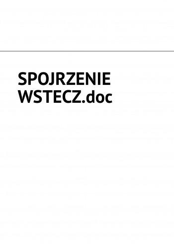 SPOJRZENIE WSTECZ.doc