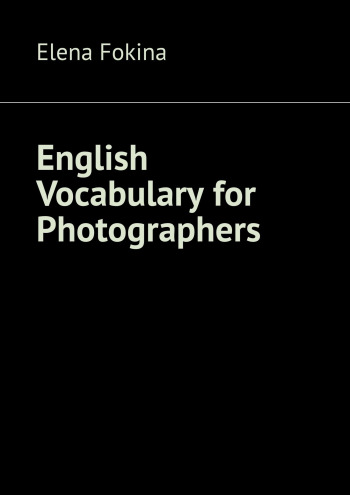 English Vocabulary for Photographers